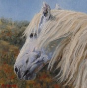 Mustang Paintings - Breezy by Debra Mickelson