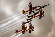 Floating Girl Framed Prints - Breitling Jet Team with Wingwalkers Framed Print by Angel  Tarantella