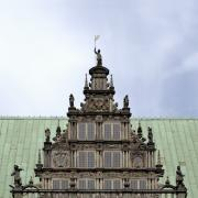 Low Angle View Originals - Bremen medieval town hall detail by Adrian Hancu