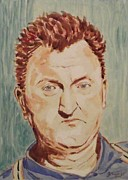 Author Mixed Media Metal Prints - Brendan Behan Metal Print by John  Nolan