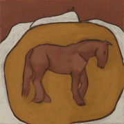 Iron Oxide Paintings - Brentor Horse by Sophy White