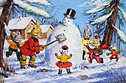 Snowball Paintings - Brer Rabbit from Once Upon a Time by Virginio Livraghi