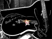 Bret Prints - Bret Michaels Guitar Print by Michelle Frizzell-Thompson