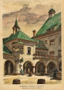 Brewery Prints - Brewery Munich Germany 1890 Print by Heilmann and Littmann