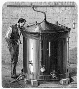 Fermentation Photo Posters - Brewery Vat, 19th Century Poster by Cci Archives