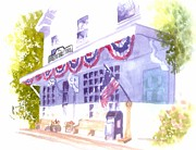 Historic Country Store Prints - Brewster Store Print by Joseph Gallant