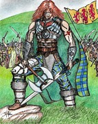 Celts Posters - Brian Boru Poster by Fabio Lion