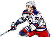 New York Rangers Drawings Metal Prints - Brian Boyle Metal Print by Dave Olsen