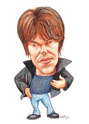 Particle Physicist Prints - Brian Cox, Caricature Print by Gary Brown