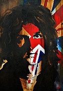 British Music Art Paintings - Brian May by Brad Jensen