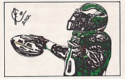 Philadelphia Eagles Drawings - Brian Westbrook 2 by Jeremiah Colley