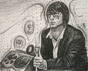 60s Drawings - Brian Wilson 1 by Michael Morgan