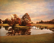 Autumn Landscape Art - Brians Bridge by Jai Johnson