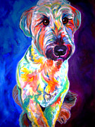 Alicia Vannoy Call Framed Prints - Briard - Albert Framed Print by Alicia VanNoy Call