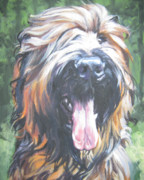 Puppy Paintings - Briard by Lee Ann Shepard