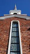 City Scape Digital Art Originals - Brick Church by Rob Hans