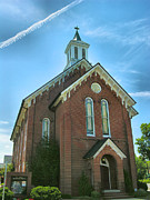 Buidling Metal Prints - Brick Church Metal Print by Steven Ainsworth