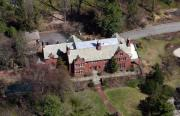 Residential Real Estate Aerial Photographs - Brick House Chestnut Hill by Duncan Pearson