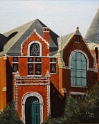 Baptist Painting Originals - Brick Masterpiece by Alan Mager