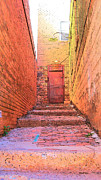 Arizonia Posters - Brick Stairs in Bisbee Poster by Rebecca Korpita