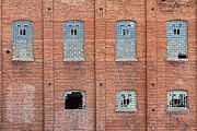 Disrepair Metal Prints - Brick Wall Broken Windows Metal Print by James Bo Insogna
