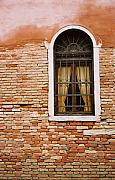 Kathy Schumann Prints - Brick Window Print by Kathy Schumann