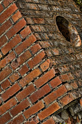 Red Bricks Prints - Bricked Print by Bonnie Bruno