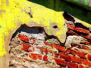 Michael Metal Prints - Bricks and Yellow by Michael Fitzpatrick Metal Print by Olden Mexico