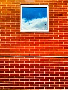 Ronnie Glover Art - Bricks Sky Window by Ronnie Glover