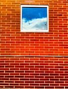 Bricks Sky Window Print by Ronnie Glover
