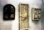 Windows Sculptures - Bricks through windows by Simon Currell