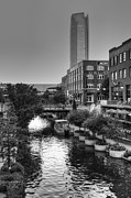Devon Tower Photo Framed Prints - Bricktown Canal II Framed Print by Ricky Barnard