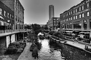 Devon Tower Photo Framed Prints - Bricktown Canal Framed Print by Ricky Barnard