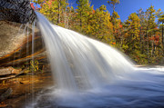 Bridal Veil Prints - Bridal Veil Fall in Dupont State Forest NC Print by Pierre Leclerc