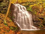 Autumn Woods Prints - Bridal Veil Falls Print by Nick Zelinsky