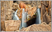 Rock Formation Prints - Bridalveil Fall In Yosemite Np Print by Sankar Raman