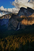Tunnel View Posters - Bridalveil Falls at Sunset Poster by Rick Berk