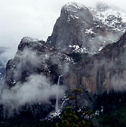 Jeff Lowe - Bridalveil Falls In Snow...