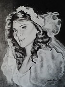 Rendering Drawings Prints - Bride Carlita Print by Carla Carson
