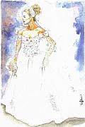Cecill Woods Art - Bride by Cecill Woods
