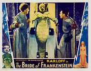 Lobbycard Framed Prints - Bride Of Frankenstein, Ernest Framed Print by Everett