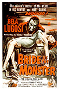 1955 Movies Posters - Bride Of The Monster, Bela Lugosi, 1955 Poster by Everett