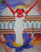 Jesus Painting Originals - Bride of YAHUSHUA by Darnell Clark