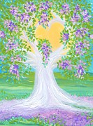 First Love Prints - Brides Tree purple Print by First Star Art