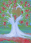 First Love Prints - Brides Tree red by jrr Print by First Star Art