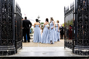 Street Photography Digital Art - Bridesmaids by Kathleen K Parker