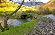 Packhorse Prints - Bridge Approach  Print by Trevor Kersley