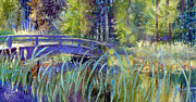 Gertrude Palmer Metal Prints - Bridge at Habersham Metal Print by Gertrude Palmer