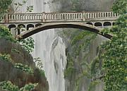 Carol Schmauder - Bridge at Multnomah Falls