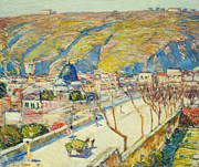 Rooftops Paintings - Bridge at Posilippo at Naples by Childe Hassam